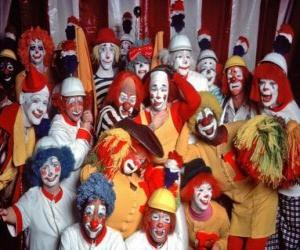 puzzel Groep clowns