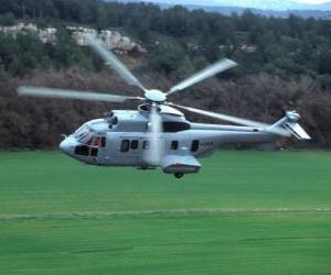 puzzel Groot Cougar EC725 helikopter