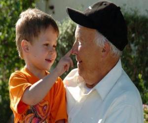puzzel Grootvader met kleinzoon