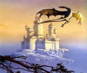 puzzel Grote gevleugelde draak