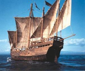 puzzel Grote piratenschip