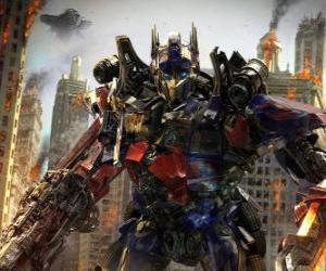 puzzel Grote robot Transformer van Disney