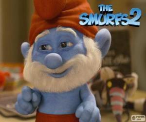 puzzel Grote Smurf, de leider van de Smurfen