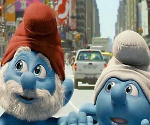 puzzel Grote Smurf en Klungelsmurf, de straten van Manhattan. - De Smurfen, film -