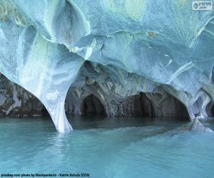 puzzel Grotten van marmer, Chili