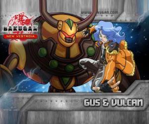 puzzel Gus en zijn Bakugan Vulcan