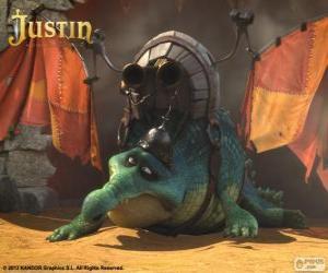 puzzel Gustav. Een krokodil wie wil vliegen en een draak