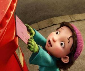 puzzel Gwen, het meisje aan wie Arthur moet het kerstcadeau te leveren