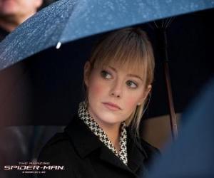 puzzel Gwen Stacy bij de begrafenis van zijn vader