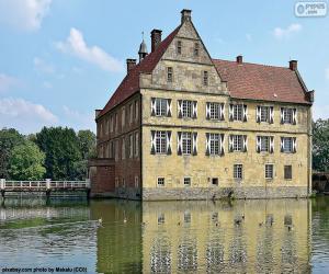 puzzel Hülshoff Castle, Duitsland