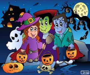 puzzel Halloween feest