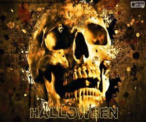 puzzel Halloween schedel