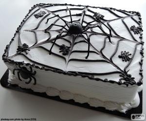 puzzel Halloween taart