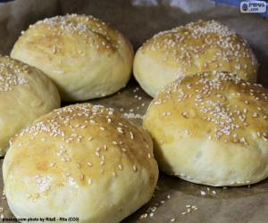 puzzel Hamburger brood