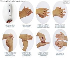 puzzel Handen wassen