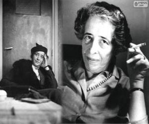 puzzel Hannah Arendt, een Duits-Amerikaanse politieke theoreticus