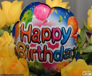 puzzel Happy Birthday ballon