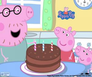 puzzel Happy Birthday Peppa varken