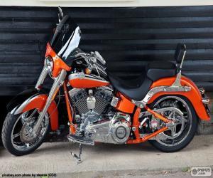 puzzel Harley Davidson Oranje