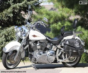 puzzel Harley-Davison Wit