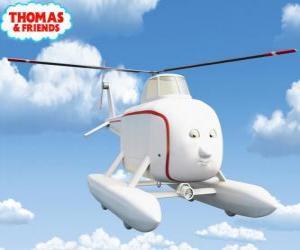 puzzel Harold is een goedhartige helikopter