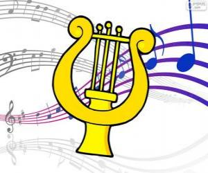 puzzel Harp, tekening