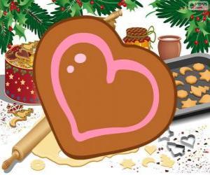 puzzel Hart gevormde biscuit
