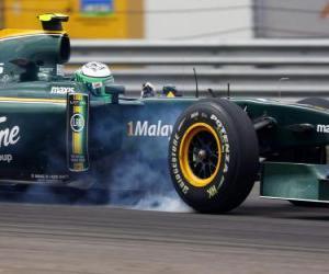 puzzel Heikki Kovalainen - Lotus - Istanbul 2010
