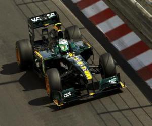 puzzel Heikki Kovalainen - Lotus - Monte-Carlo 2010