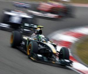 puzzel Heikki Kovalainen - Lotus - Shanghai 2010