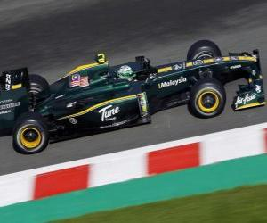 puzzel Heikki Kovalainen - Lotus - Spa-Francorchamps 2010
