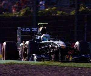 puzzel Heikki Kovalainen - Lotus - Suzuka 2010
