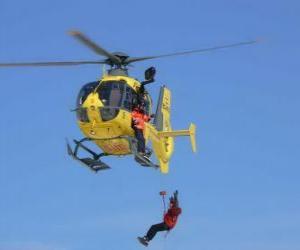 puzzel helikopter nood