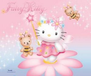 puzzel Hello Kitty, de tuin fee