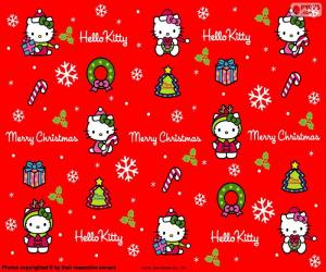 puzzel Hello Kitty Kerstmis