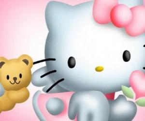 puzzel Hello Kitty met haar Teddy Bear Tiny Chum