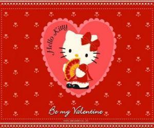 puzzel Hello Kitty met hartjes