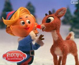 puzzel Hermey en Rudolph