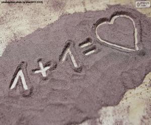 puzzel Het bedrag maakt de liefde