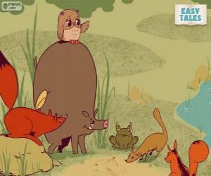 puzzel Het bos dieren beslissen de carrièrepad