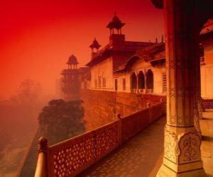 puzzel Het Fort van Agra, India