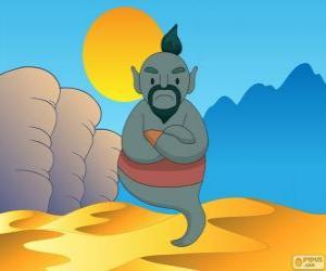puzzel Het geest van de lamp dat Aladdin helpt