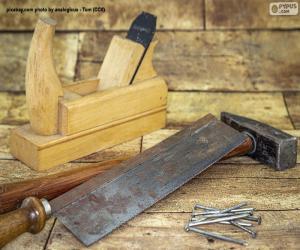 puzzel Het gereedschap van de timmerman