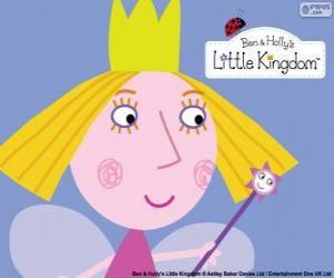 puzzel Het gezicht van de weinig sprookje, de prinses Holly met haar kroon
