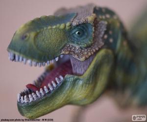 puzzel Het hoofd van een dinosaurus