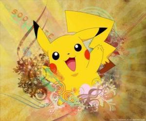 puzzel Het is een muis pokemon geel, elektrisch type.