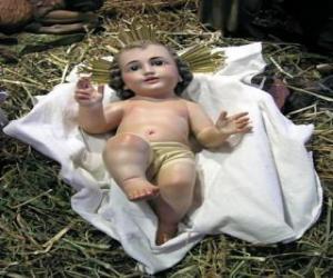 puzzel Het Kind Jezus in de kribbe
