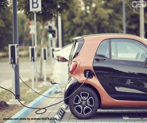 puzzel Het laden van de elektrische auto
