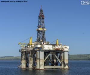 puzzel Het Mariene Platform van de Olie