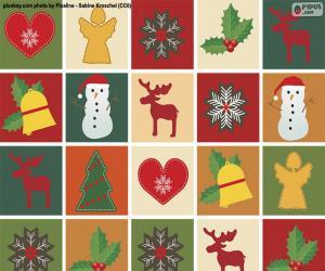 puzzel Het motiefdocument van Kerstmis
